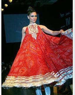 Bandhani fashion for Summer 2011