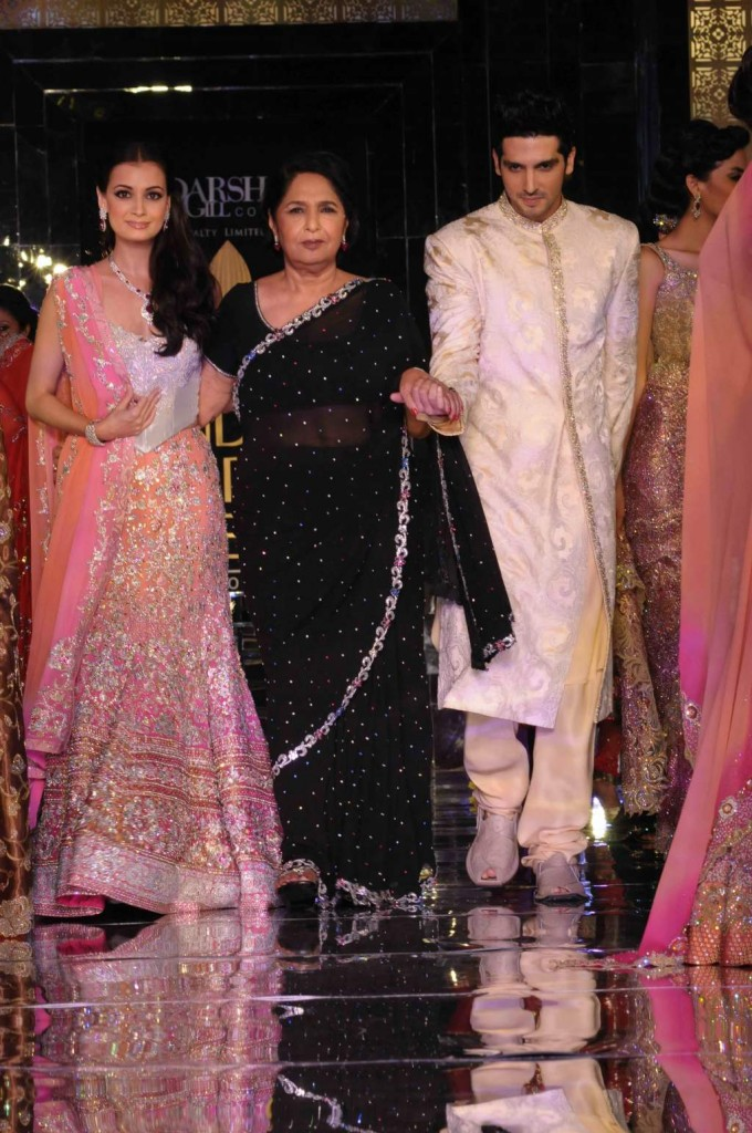 Dia Mirza and Zayed Khan- bridal week 2011