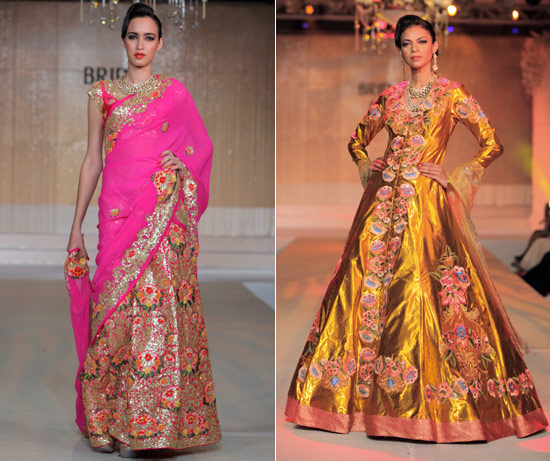 Pink-gold-royal-bridal-couture-designer-saree-lehenga-Pallavi-jaikishen-asia-bridal-week-2011-India