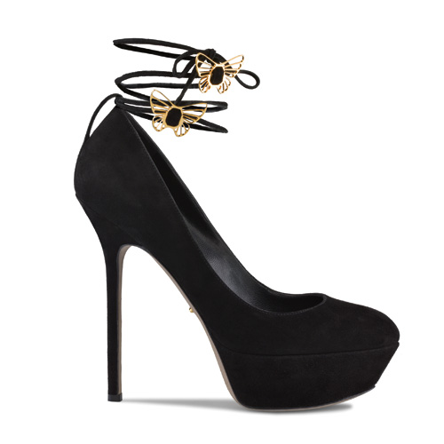 black sude platform pump-latest fashion trends 2011-sandals