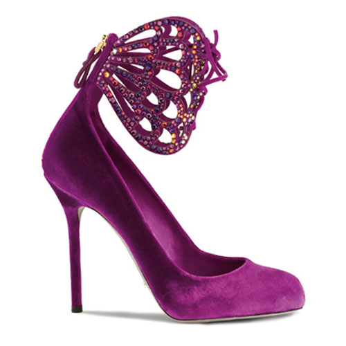 pink velvet ankle cuff Saturnia pump-latest fashion trends 2011-sergio rossi collection