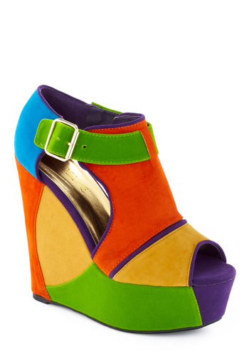 Colourful platforms 2012 latest collection