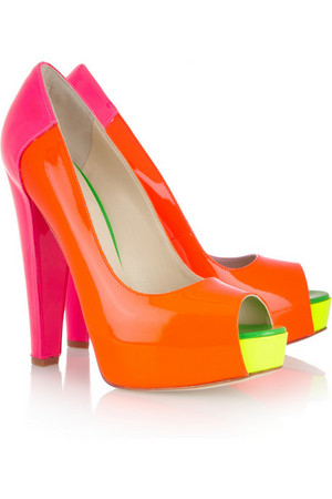 Florescent neon coloured Pumps-latest fashion trends 2012