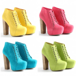 Pastel and Neon Wedges | Bright colored Platform Heels| Trends 2012 - Latest Shoe Styles