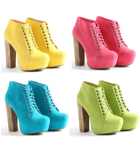pastel colored pumps-latest fashion trends 2012