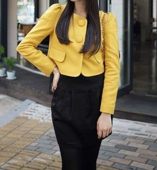 YELLOW SHORT JACKET-fashion trends 2012