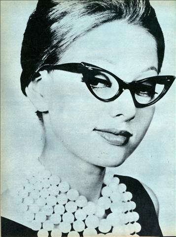 cat-eye glasses of 1970
