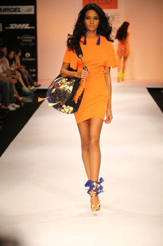 Orange-blue-lakme fashion week 2012-summer resort
