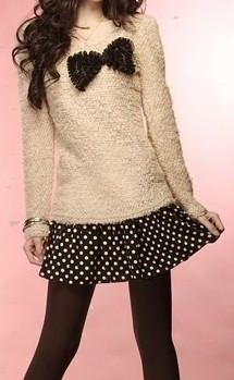 sweater polka dots fashion 2012