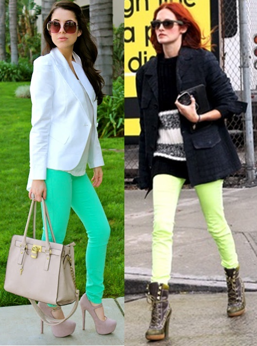 How to wear Neon Jeans- Coloured Jeans Trends for Summer ...
