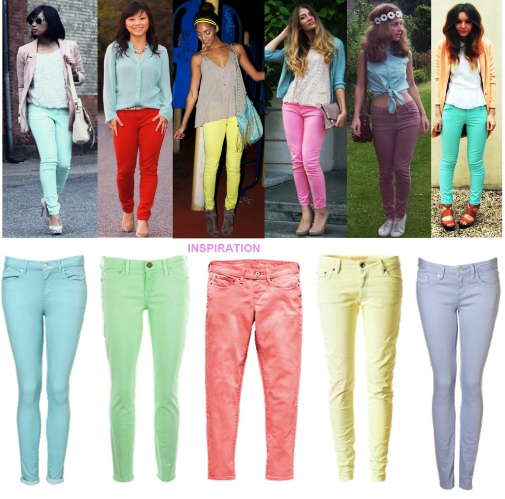 How-to-wear-pastel-jeans-Neon-pastel-Fashion-trend-2012