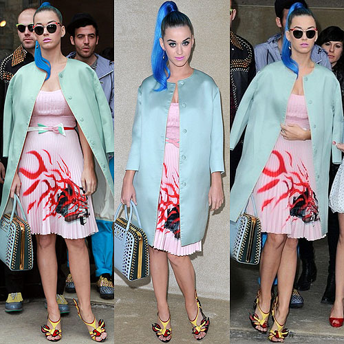 Katy-Perry-Mint-green-coat-summer-trends-2012