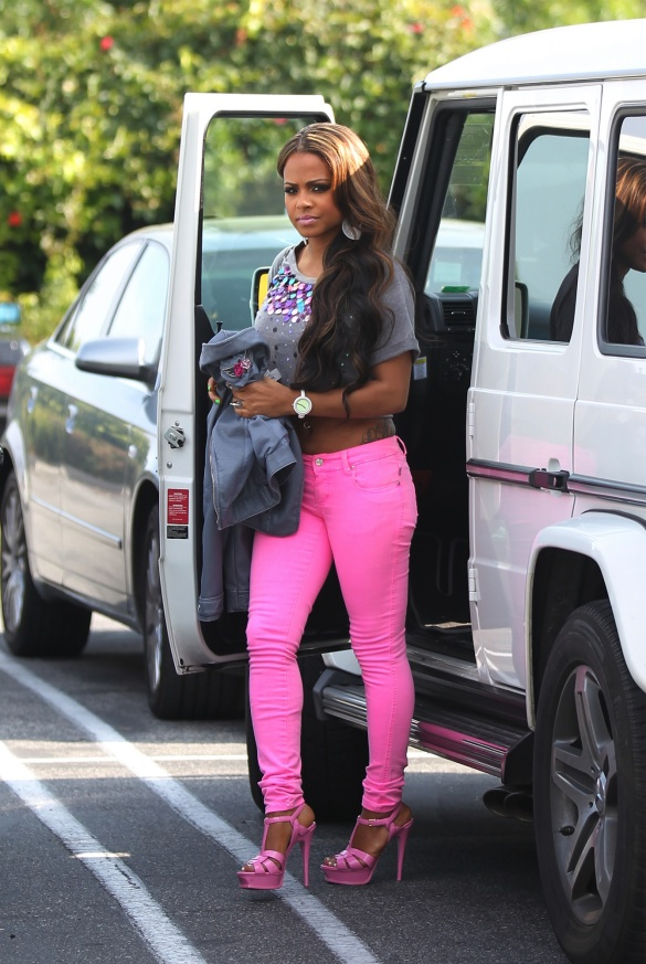 christina-millian-neon-pink-jeans-fashion-trends-2012