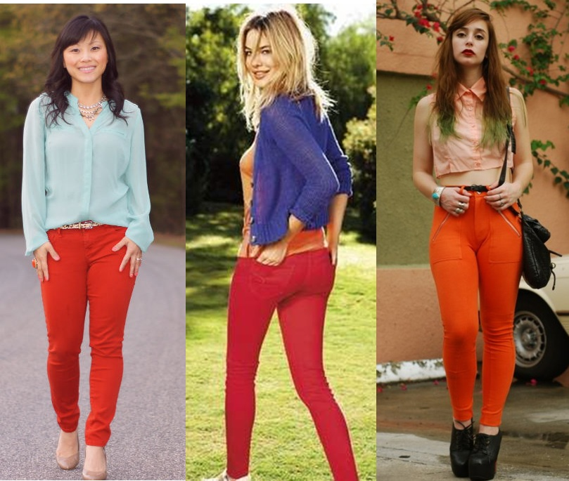 how-to-wear-pastel-red-jeans-fashion-trends-spring-summer-2012