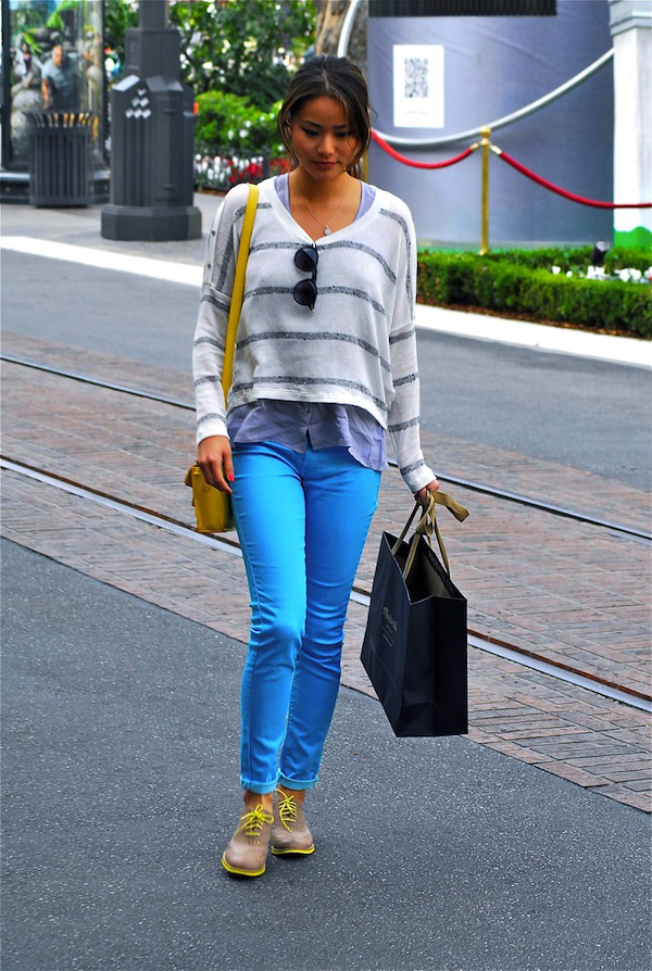 jamie-chung-neon-blue-fashion-trends-2012