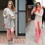Jessica Alba in Love with Coloured Jeans| Pastel and Neon Jeans Trend 2012