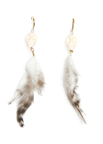 white-feather-earrings-mango-latest-fashion-trends-2012