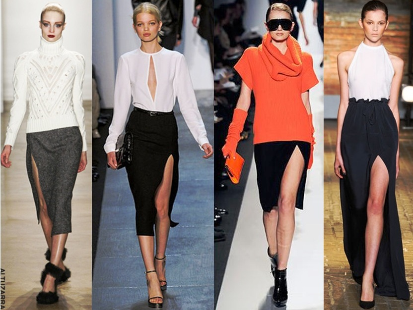 Fashion trend in 2017 - Runway Latest Fashion Trends Spring Summer High Slit