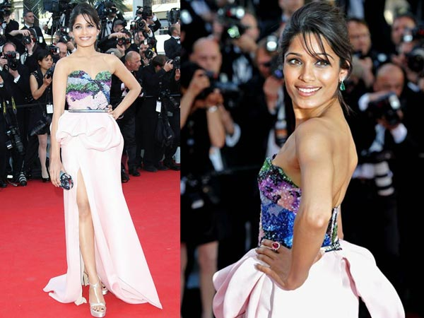 freida-pinto-celebrity fashion trends at Cannes 2012