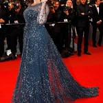 Gorgeous Aishwarya Rai Bachchan in Midnight Blue Elie Saab at Cannes 2012