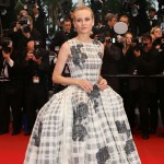 Diane Kruger in beautiful 50's Style massive Dior Gown at Cannes 2012 Closing day