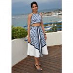 Freida Pinto at Cannes film festival 2012 | Stripped dress
