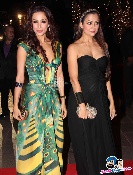 Maliaka-arora-khan-amrita-arora-karan-johar-birthday-party-2012
