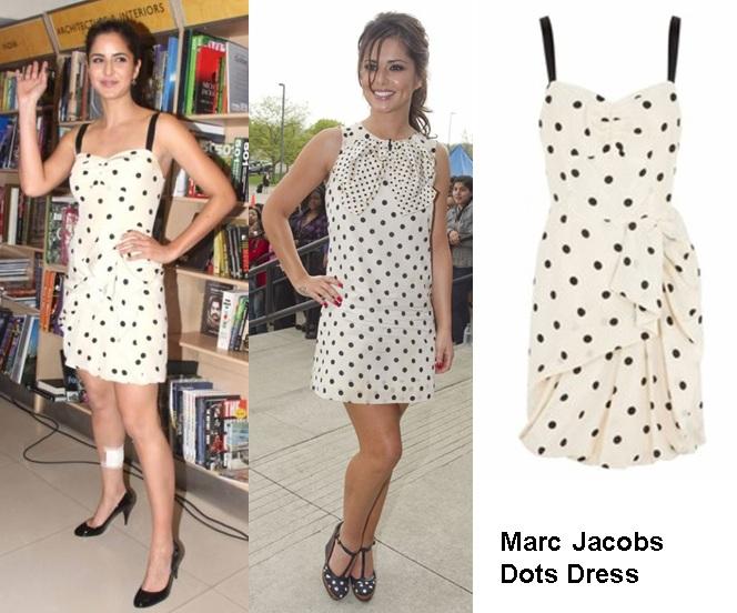 Who wore it better? marc jacobs hot dot dress katrina kaif v/s chery cole