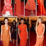 Orange and Corals at Met Gala 2012