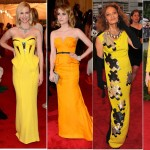 Met Gala Fashion Ball 2012| Celebrity dressed in Yellow