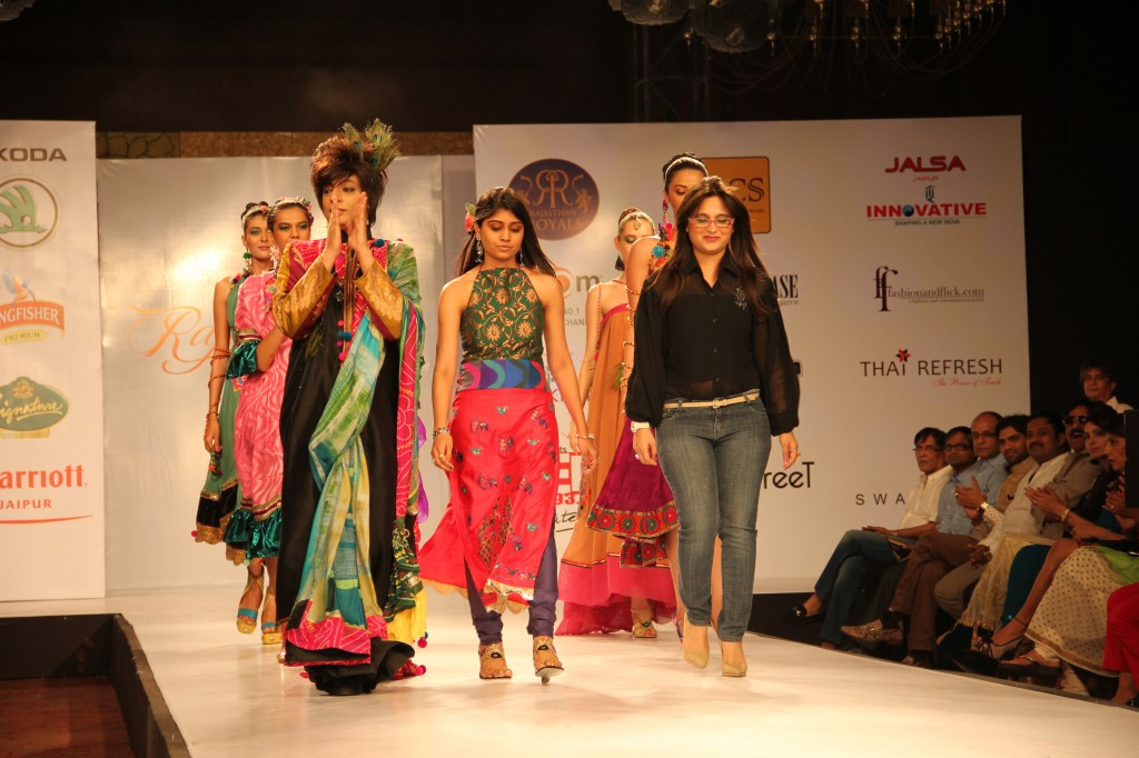 Swati Modo collection at Rajasthan fashion week custom-made designer shoes