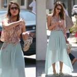 Jessica Alba or Kate Bosworth in Mint Green Skirt | Mint green colour trends 2012