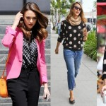 Jessica Alba trending the latest fashion trend 2012