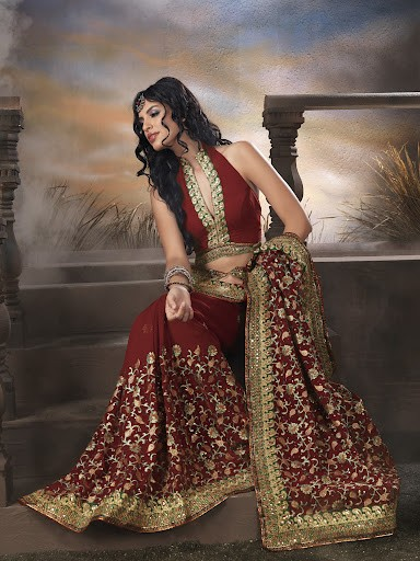 brick red lehenga designer dress by fashionkafatka