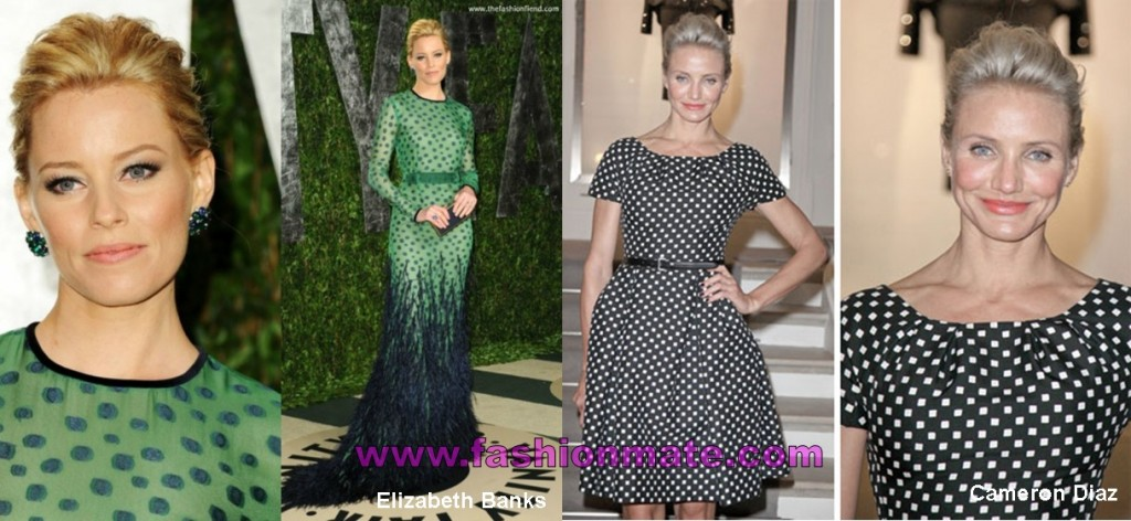 elizabeth banks-cameron-diaz-polka-dots-spots-latest-celebrity-fashion-trends-2012