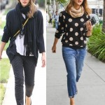 Has Jessica Alba deserted her Pastels for the newest Dots??? Celebrities trending in Polka dots Fash...
