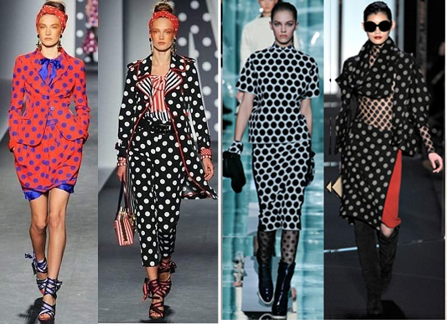 latest fashion trends runway-polka dots 2012