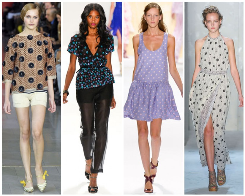 polka dots fashion trends 2012