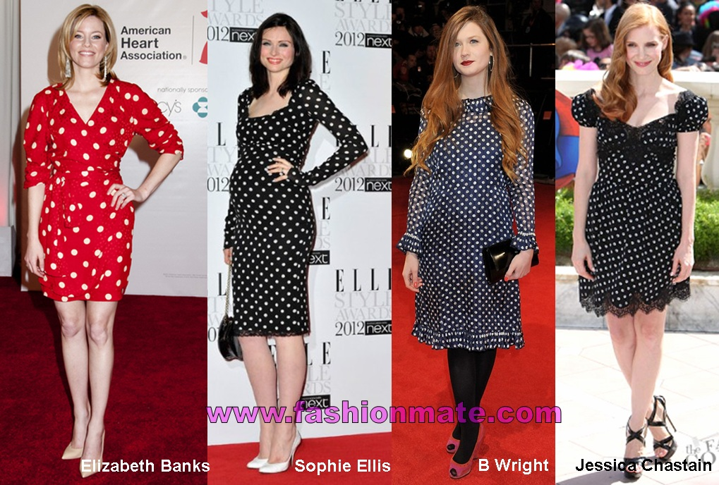polka-dot-dress-Elizabeth-banks-sophie-ellis-wright-jessica-chastain-cannes-2012-celebrity-fashion-trends
