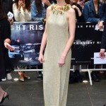 Anne Hathaway in Gucci at Premiere of Dark Knight
