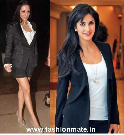 2017 fashion jackets - Black Jacket Katrina Kaif Maliaka Arora Fashion Mate