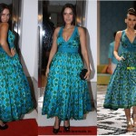 Neha Dhupia in Anita Dongre | Lakme Fashion Week 2012 Designer in Vogue