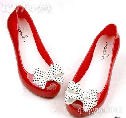 polka dot bow-plastic-rain-boots-melissa-women-footwear-rains
