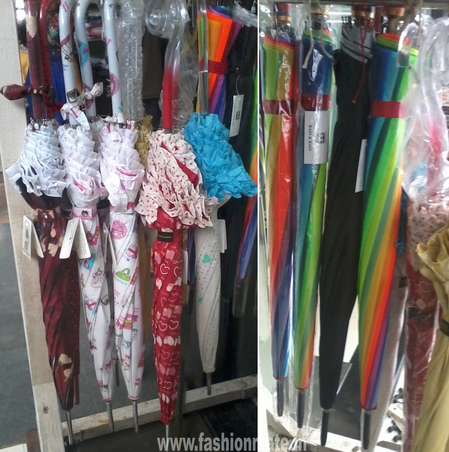 frilled funky umbrella with transparent handle for rains- monsoon fashion 2012