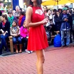 Katrina Kaif in Red Dress at the sets of Ek tha Tiger