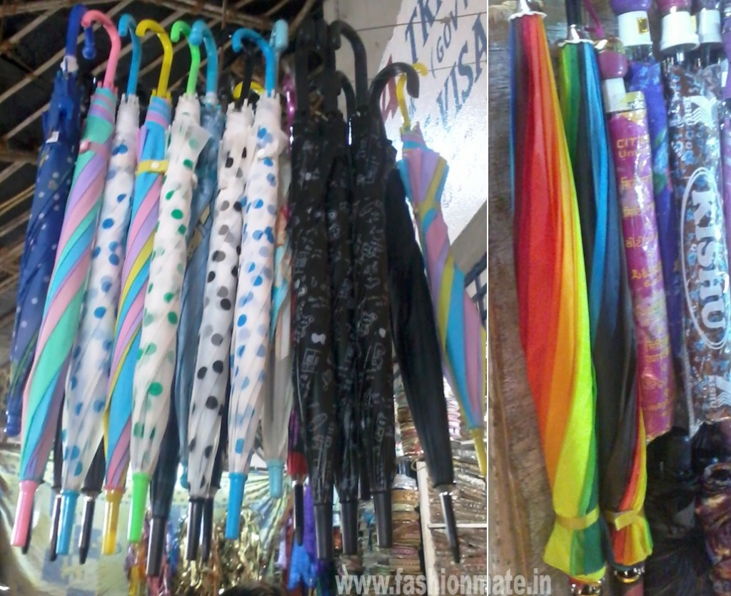 polka dot and rainbow coloured funky umbrella monsoon fashion trends rains fashionmate