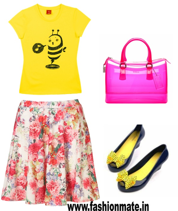 rain-wear-monsoon-shoes-yellow-summer-t-shirt-transparent-candy-bag