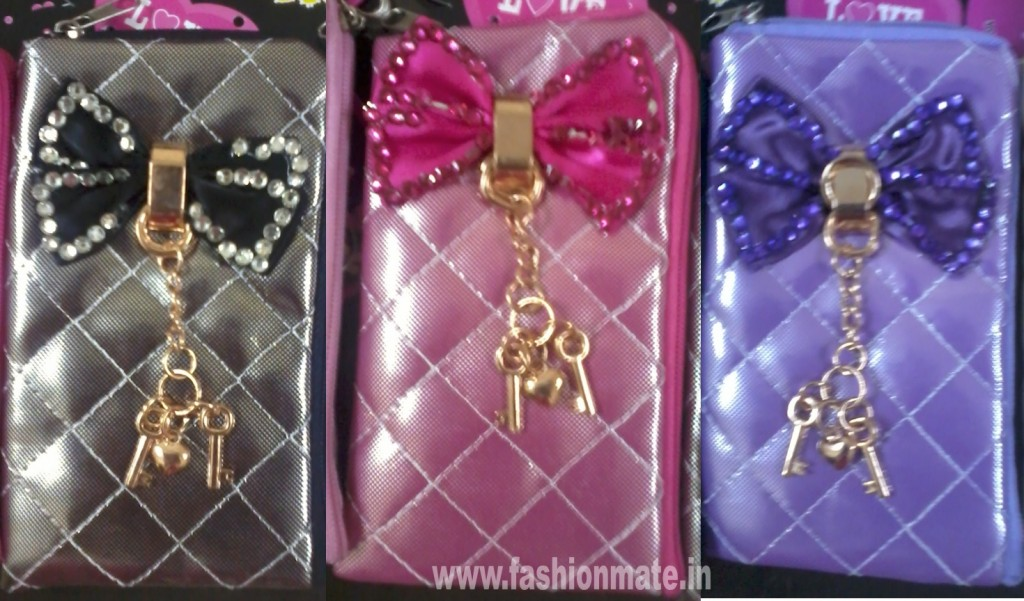 shiny colourful waterproof cute mobile covers with hanging and bow fashion style 2012
