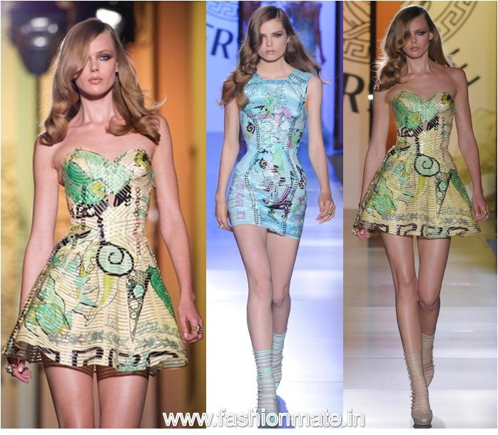 short dresses-Versace-Paris Fashion week 2012-13 Haute Couture