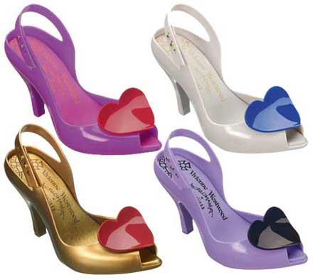 vivienne-westwood-funky-plastic heels with hearts-rain-wear